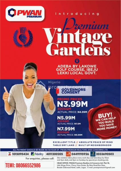 Premium Vintage Gardens Land, Lakowe, Ibeju Lekki, Lagos, Mixed-use Land for Sale