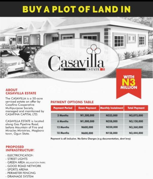 100% Dry Land  a Unique Enclave Set in a Serene Neighborhood of Magboro,@casavilla Estate, 15 Minutes From Alausa, Ikeja Lagos Ibadan Expressway, Behind The Punch News Paper Office, Mangoro, Ikeja, Lagos, Mixed-use Land for Sale