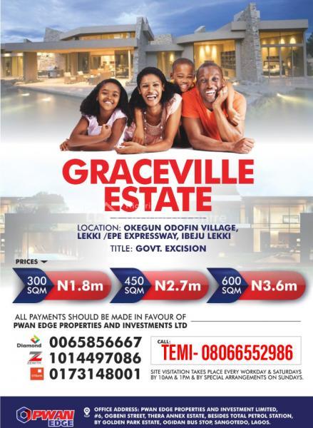 Graceville Estate, Okegun, Lekki-epe Expressway, Eleranigbe, Ibeju Lekki, Lagos, Mixed-use Land for Sale