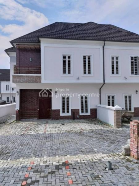 Exotically Finished 4 Bedroom Semi Detached Duplex with Bq, After Chevron Toll Gate, Ikota, Lekki Phase 2, Lekki, Lagos, Semi-detached Duplex for Sale