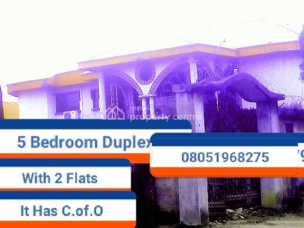 5 Bedroom Duplex and 2 Flats, Etete G.r.a, Benin, Oredo, Edo, Detached Duplex for Sale