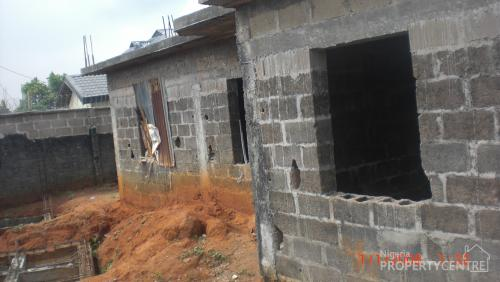 For sale uncompleted building of 2 flats of 3 bedroom for Types of houses in nigeria