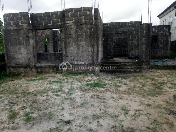 Fully Fenced and Gated Uncompleted Detached Duplex with C of O, Gbalajam Estate, Peter Odili Extension Road, Trans Amadi, Port Harcourt, Rivers, Detached Duplex for Sale
