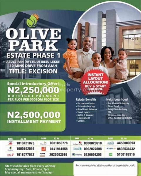 Estate Land with Excision, Buy and Build, Abule Pan Ayeteju Near Pan Atlantic University, Ibeju Lekki, Lagos, Mixed-use Land for Sale