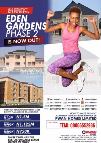 Eden Gardens Phase 2, Igbogun Road, Folu Ise, Ibeju Lekki, Lagos, Mixed-use Land for Sale
