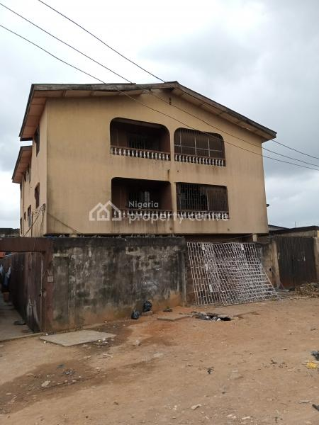 Block of 6 Nos 2 Bedroom Flat Each on 400sqm of Land, Omoakin Close, Ifako, Agege, Lagos, Block of Flats for Sale