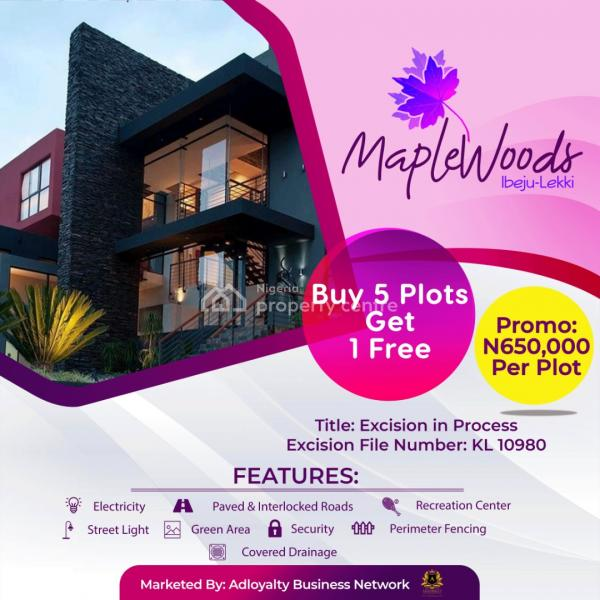 Maplewoods Estate, 100% Dry Land Directly Facing The Main Road, Adjacent an Already Residential Community with Electricity, Igbogun Village, Close Proximity to The Prestigious La Campaign Tropicana Beach Resort and The Multi Billion Dollars Dangote Refinery, Ibeju Lekki, Lagos, Mixed-use Land for Sale