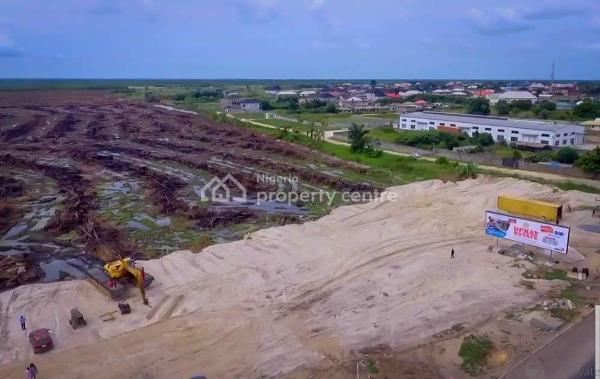 Land with C of O, 660sqm Sandfilled Land, Sangotedo,ajah, Facing Express., Sangotedo, Ajah, Lagos, Residential Land for Sale