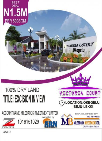 Land, Victoria Court Okegelu, Ibeju-lekki, Lekki Free Trade Zone, Lekki, Lagos, Mixed-use Land for Sale