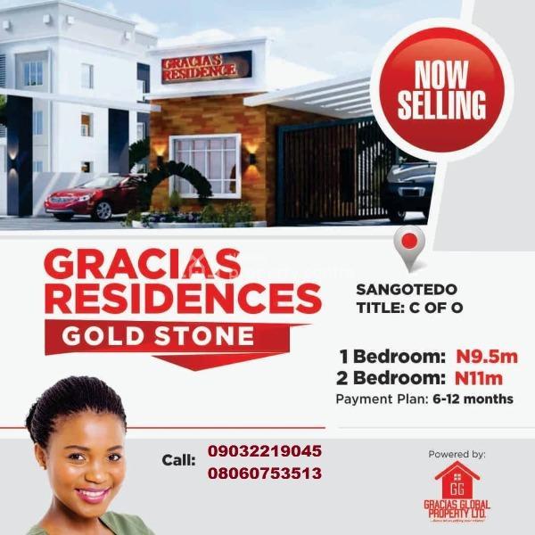 Luxury 2 Bedroom Apartment in Sangetedo Lekki, Sangotedo, Ajah, Lagos, Block of Flats for Sale