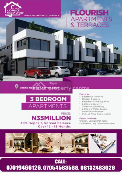 3bedroom Terrace, Off Orchid Road, Lafiaji, Lekki, Lagos, House for Sale
