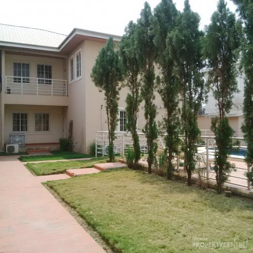 For rent 3 bedroom serviced terrace duplex with boys for Duplex house plans with swimming pool
