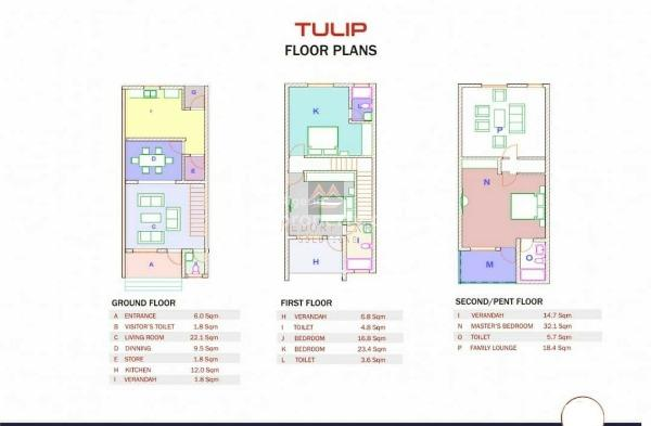Exquisite 3 Bedroom Terraced Duplex, Pp Estate, Airport Road, Jabi, Abuja, Terraced Duplex for Sale