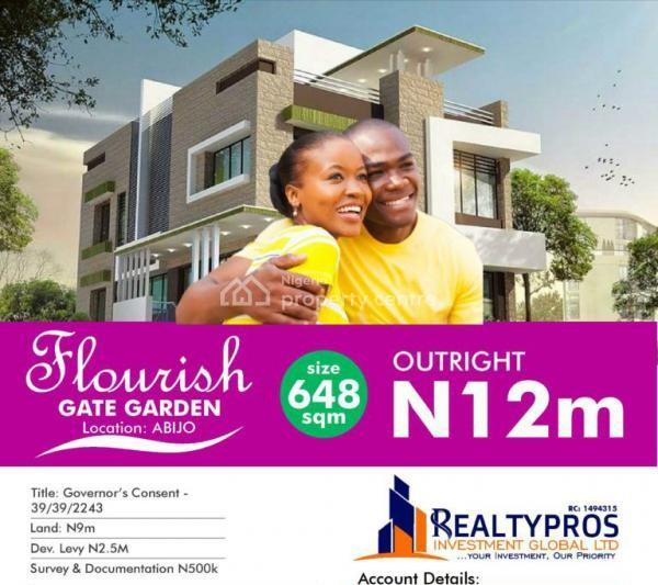 Estate Land, Title: Governor Consent, Buy Build, Abijo, Sangotedo, Ajah, Lagos, Residential Land for Sale