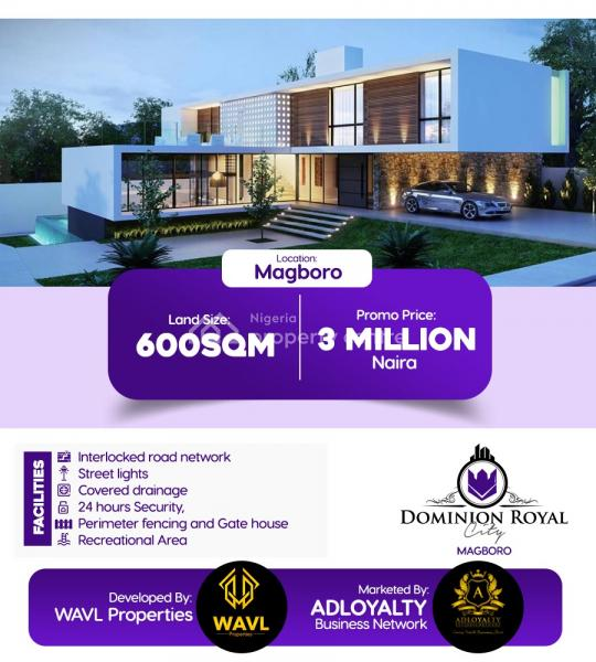 600sqm and Buy and Build Estate, Located in Magboro Community Before Redemption Camp, Magboro, Ogun, Mixed-use Land for Sale