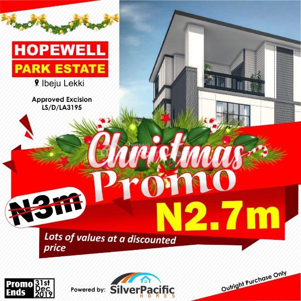 Hopewell Park Estate Is an Estate with Promising Huge Development {approved Excision}, Hopewell Park Estate Is Situated in a Fast Developing Industrial Hub with Close Proximity to Dangote Refinery, 1 Minute to La Campagne Resort and It's on an Exciting Xmas Promo Price, Ogogoro, Ibeju Lekki, Lagos, Mixed-use Land for Sale