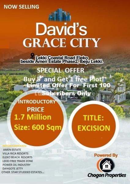 Estate Land Exercision, Beach Resort Amen Estates Lekki Free Trade Zone Power Oil Dangote Jetty, Eleko, Ibeju Lekki, Lagos, Residential Land for Sale