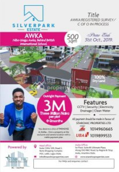 Estate Land, Opposite The Government House and  Behind British International School, in Nibo-isiagu Road and Facing The Expressway.  It Is a Cool and Pleasant Environment, Awka, Anambra, Residential Land for Sale