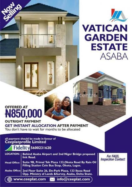 Estate Land, Behind Asaba Airport, 2nd Niger Bridge Proposed Link Road, Asaba, Delta, Residential Land for Sale