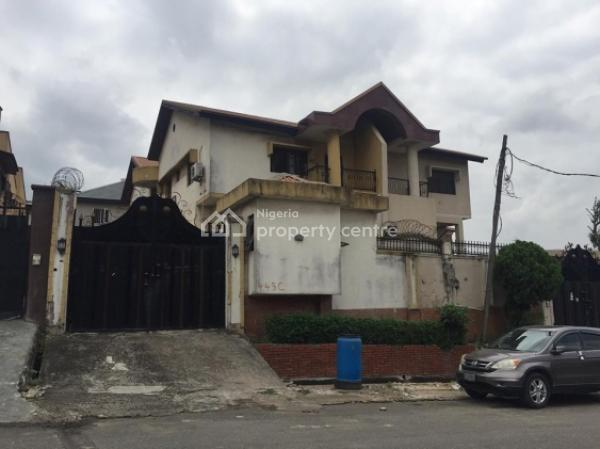 an Old 4 Bedroom Wing of Duplex (needs Renovation) with Bq, Omole Phase 1, Ikeja, Lagos, Detached Duplex for Sale