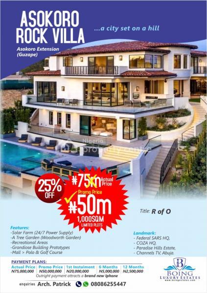 Asokoro Rock Villa Land, Guzape District, Abuja, Mixed-use Land for Sale