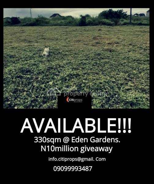330sqm Plot of Land, Eden Garden Estate, Ajah, Lagos, Residential Land for Sale