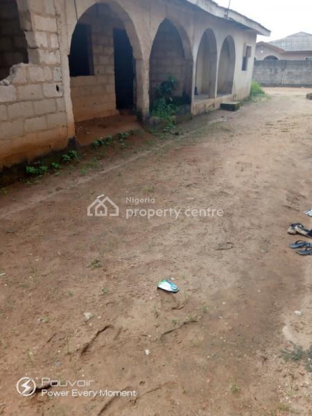Parcel of Land with Structure, Ilogbo Road Very Close to Obasanjo Farm, Atan Ota, Ado-odo/ota, Ogun, Detached Bungalow for Sale