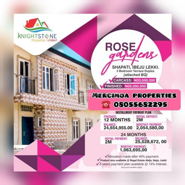Rose Gardens Estate, Shapati, Bogije, Ibeju Lekki, Lagos, Terraced Duplex for Sale