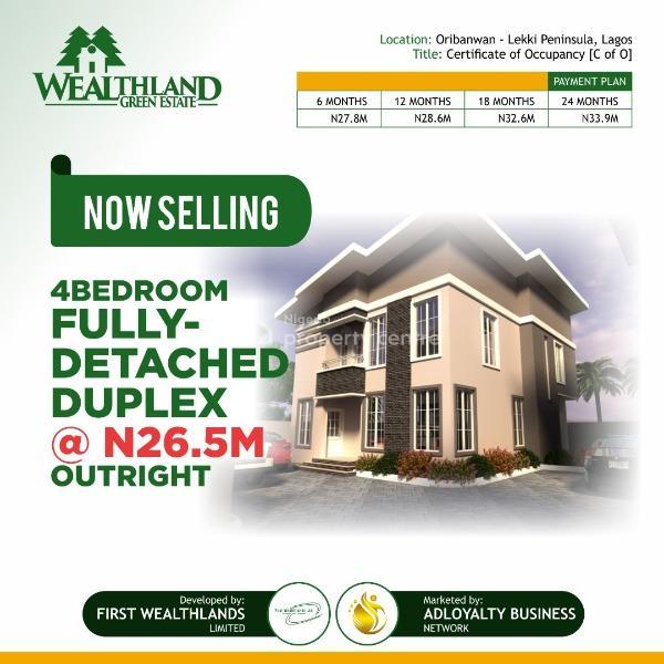 4 Bedroom Fully Detached, Lekki Expressway, Lekki, Lagos, Detached Duplex for Sale