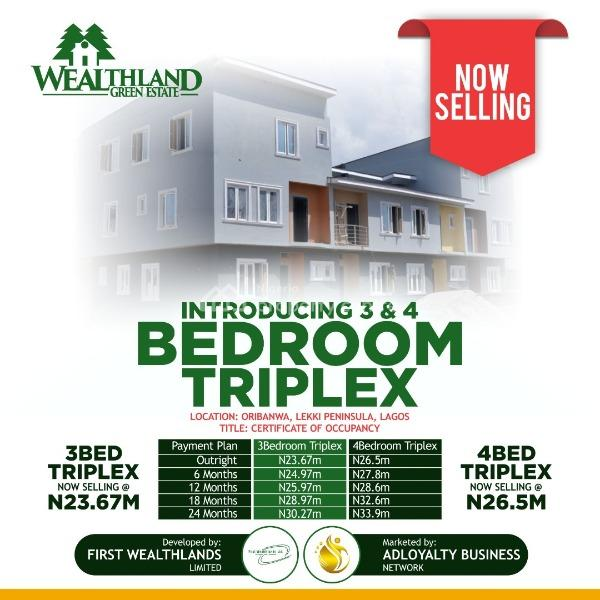 3 Bedroom  Triplex, Lekki Expressway, Lekki, Lagos, Semi-detached Duplex for Sale