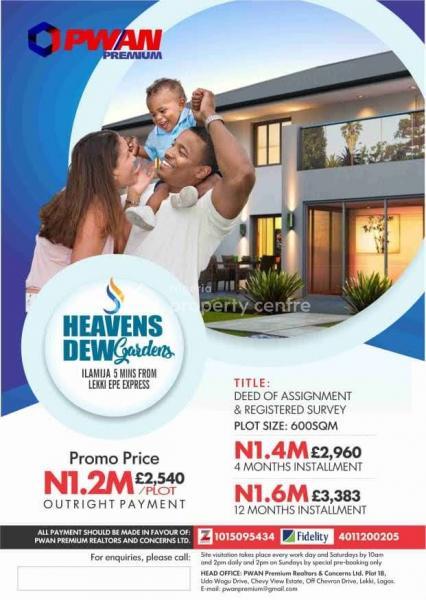 Verified Secured Land, Eleko, Ibeju Lekki, Lagos, Residential Land for Sale