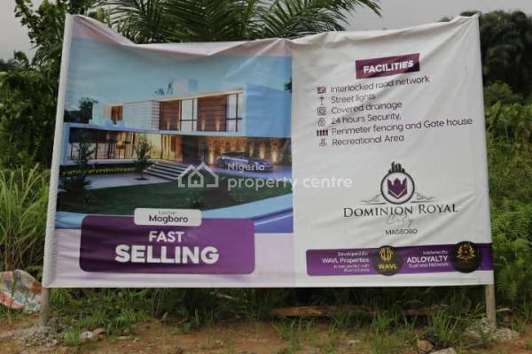 Dominion Royal City Land, Magboro, 5 Minutes Drive to Berger, Magboro, Ogun, Residential Land for Sale