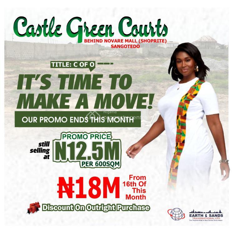60 Days Lock Down Promo., Castle Green Courts Estate, Behind Shoprite/ Novare Mall., Sangotedo, Ajah, Lagos, Mixed-use Land for Sale