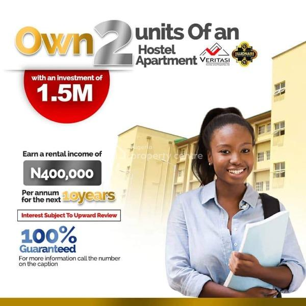 Own 2 Units of an Hostel Apartment with an Investment, Akoka, Yaba, Lagos, Terraced Duplex Joint Venture