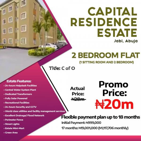2 Bedroom Flat ( 1 Sitting Room, 2 Bedrooms), Jabi, Abuja, Mini Flat for Sale