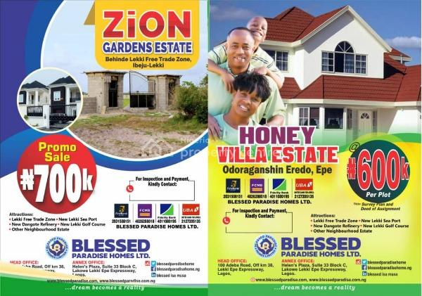Residential Lans, Zion Court Ibejulekki 5 Mins Away From Dangote Refinery, Ibeju Lekki, Lagos, Residential Land for Sale