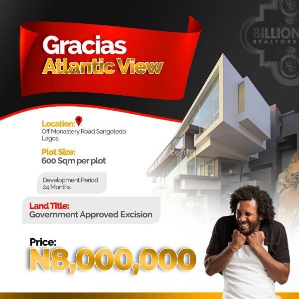 Gracias Atlantic View Estate, Sangotedo, Ajah, Lagos, Residential Land for Sale
