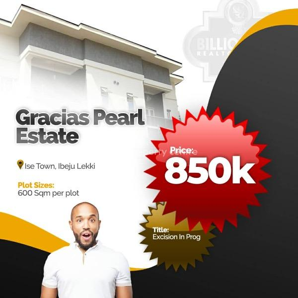 Land, 20 Mins Drive From Dangote Refinery, Gracias Pearl Estate, Folu Ise, Ibeju Lekki, Lagos, Mixed-use Land for Sale