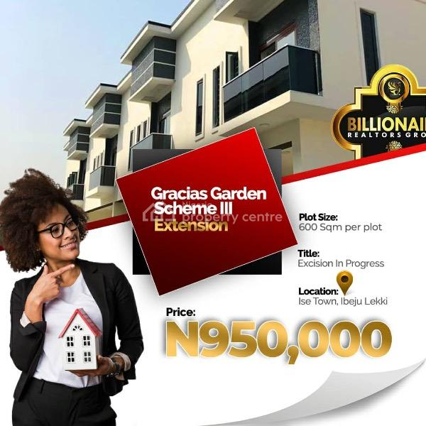 Land, 20 Mins Drive From Dangote Refinery, Gracias Garden Scheme 3, Folu Ise, Ibeju Lekki, Lagos, Mixed-use Land for Sale
