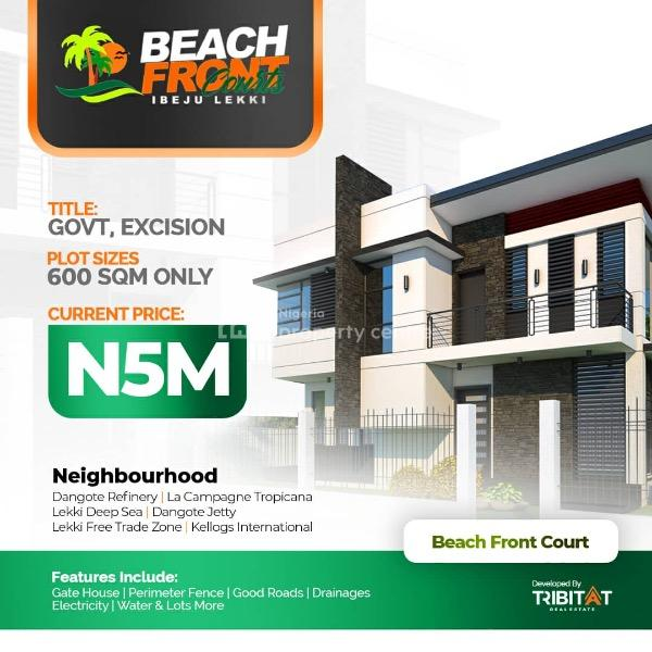 Beach Front, 20 Mins Drive From Dangote Refinery, Ibeju Lekki, Lagos, Mixed-use Land for Sale