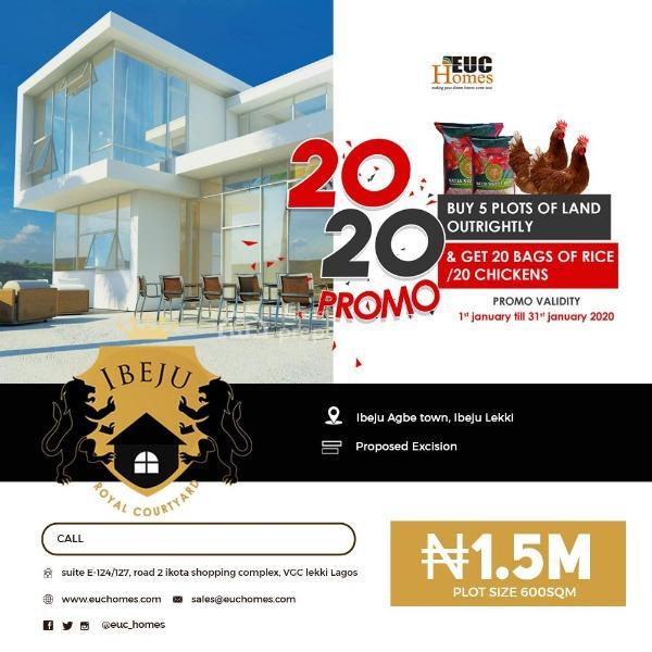 Plots of Land Facing, Epe Expressway, Ibeju, Lagos, Mixed-use Land for Sale