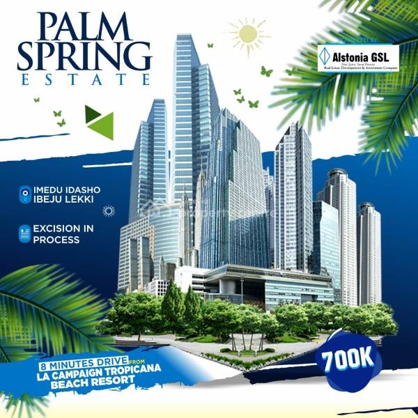 Palm Spring Estate, 8 Mins Drive From The La Campaign Tropicana Beach Resort, Ibeju Lekki, Lagos, Mixed-use Land for Sale