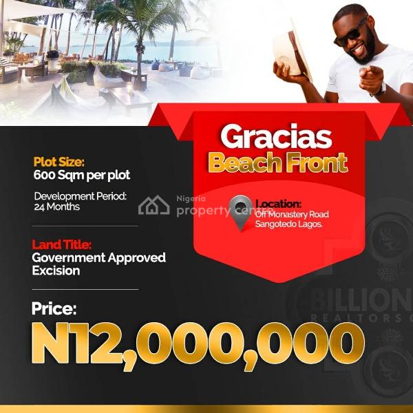 Gracias Beach Front, 15mins Drive From The Dangote's Refinery, Ibeju Lekki, Lagos, Mixed-use Land for Sale