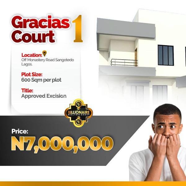 Gracias Court 1, Off Monastery Road, Sangotedo, Ajah, Lagos, Mixed-use Land for Sale