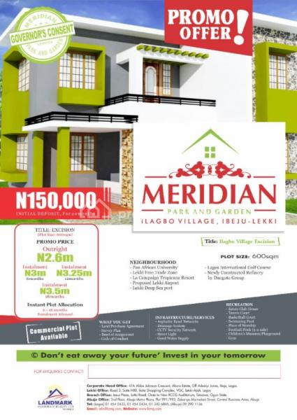Meridian Park and Garden, Ilagbo, Ibeju Lekki, Lagos, Mixed-use Land for Sale