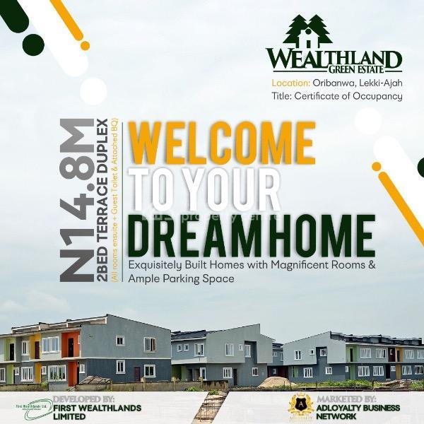 Wealthland Green Estate, Oribanwo, Lekki, Lagos, Terraced Duplex for Sale