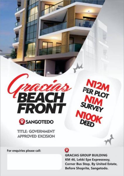 Estate By Gracias Beachfront, Sangotedo, Ajah, Lagos, Mixed-use Land for Sale