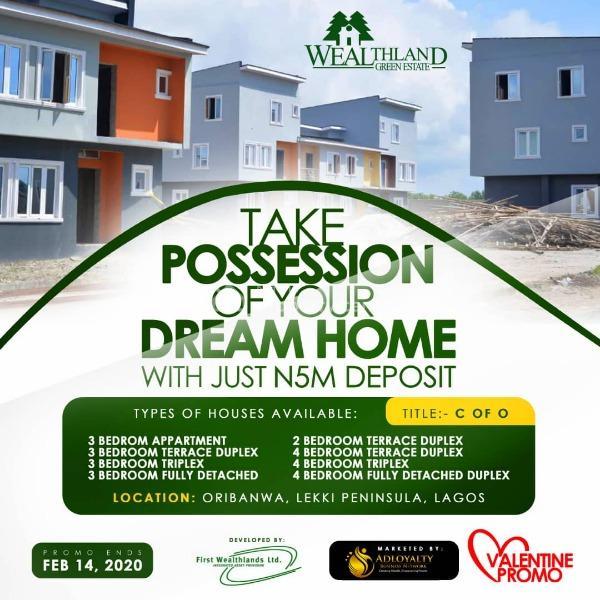 Land (best Valentine Offer), Wealthland Green Estate, Oribanwa, Ibeju Lekki, Lagos, Residential Land for Sale