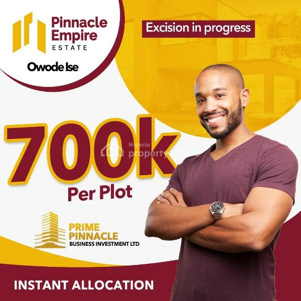 Pinnacle Gardens Estate, 20mins Drive From Dangote Refinery and 5 Mins Drive From Lacampangne R, Folu Ise, Ibeju Lekki, Lagos, Land for Sale