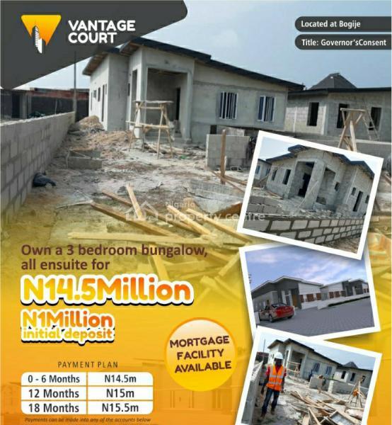 Luxury 3 Bedroom, Vantage Court, Bogije, Ibeju Lekki, Lagos, Semi-detached Bungalow for Sale
